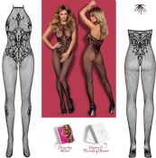 Obsessive Lingerie [ UK 6 - 12 ] Black G308 'Seductive' Bodystocking (E24033)